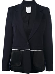 Dkny Inside Out Blazer Blue