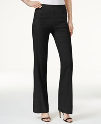 Inc International Concepts Petite Pull On Wide Leg Pants Only At Macy's Deep Black