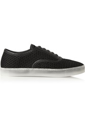 Alexander Wang Jess Mesh And Leather Sneakers Black