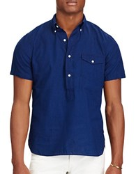 Lauren Ralph Lauren Standard Fit Cotton Shirt Indigo