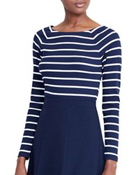 Lauren Ralph Lauren Striped Long Sleeve Top Navy