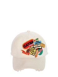Dsquared Canvas Baseball Hat W Logo Patches