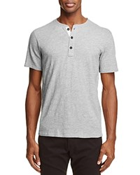 Rag And Bone Standard Issue Heathered Henley Tee Gray Heather