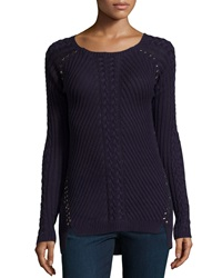 Philosophy Studded High Low Sweater Mystery Na