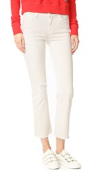 Mother The Rascal Ankle Snippet Jeans Cool Ivory