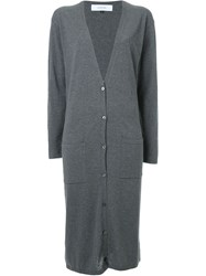 Le Ciel Bleu Long Cardigan Grey
