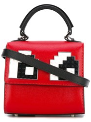 Les Petits Joueurs Micro Alex Eyes Tote Women Calf Leather One Size Red