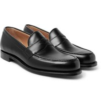 Cheaney Hudson Leather Penny Loafers Black