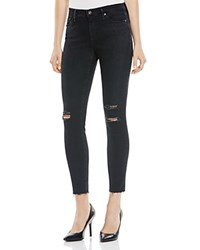 Ag Jeans Ag Destruct Midi Ankle Jeans In Black Bloomingdale's Exclusive