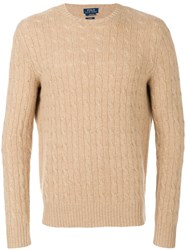 Polo Ralph Lauren Cable Knit Jumper Nude And Neutrals