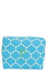 Cathy's Concepts Monogram Cosmetics Case Blue P