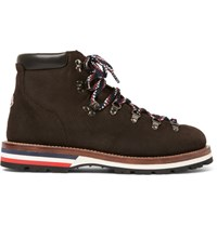 Moncler Peak Nubuck Hiking Boots Brown
