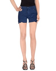 Twin Set Simona Barbieri Denim Denim Bermudas Women Slate Blue