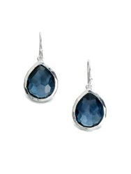 Ippolita Rock Candy London Blue Topaz And Sterling Silver Mini Teardrop Earrings