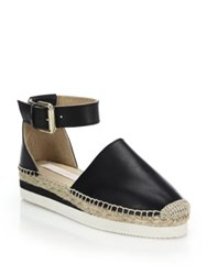 See By Chlo Glyn Leather Espadrille Flatform Sandals