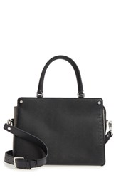 Treasure And Bond Small Logan Colorblock Leather Satchel Black Black Grey
