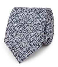 Reiss Denson Mens Mottled Silk Tie In Blue One Size