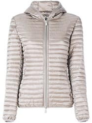 Save The Duck Padded Hooded Jacket Nude And Neutrals
