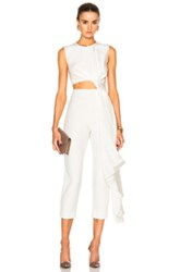 Roksanda Ilincic Bridal Silk And Bonded Crepe Jumpsuit In White