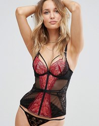 Ann Summers Valentines Love Passion Corset Black Red