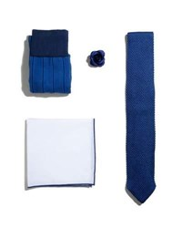 Hook Albert Shop The Look Suiting Accessories Set Blue