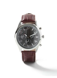 Topman Brown And Black Leather Watch