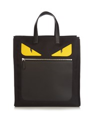 Fendi Bag Bugs Nylon And Leather Tote Black