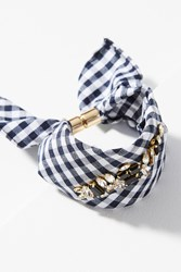 Anthropologie Crystal Ribbon Bracelet Black