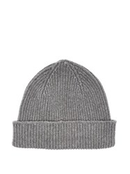 Paul Smith Cashmere And Merino Wool Blend Beanie Hat Grey
