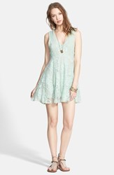 Women's Free People 'Reign Over Me' Skater Dress Sea Green