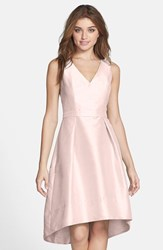 Alfred Sung Women's Satin High Low Fit And Flare Dress
