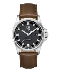 Luminox Field Watch With Leather Strap Silver
