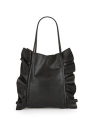 Design Lab Lord And Taylor Ruffled Tote Black