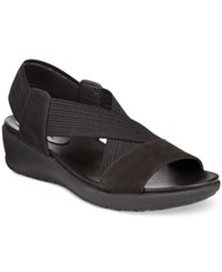 Easy Spirit Wiley Wedge Sandals Women's Shoes Black