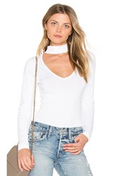 Central Park West Miami V Neck Bodysuit White