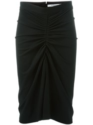 Givenchy Ruched Pencil Skirt Black