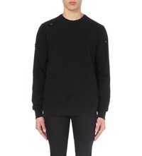 Criminal Damage Shoreditch Cotton Jersey Sweatshirt Black