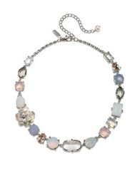 Badgley Mischka 9 10Mm Freshwater Pearl And Swarovski Crystal Necklace Silver