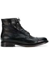 Silvano Sassetti Lace Up Ankle Boots Black