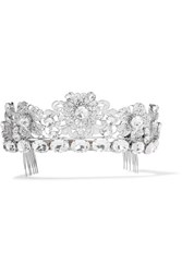Dolce And Gabbana Palladium Tone Crystal Headpiece Silver