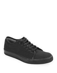 Gbx Mono Canvas Lace Up Sneakers Black