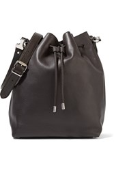 Proenza Schouler Large Textured Leather Bucket Bag Dark Brown