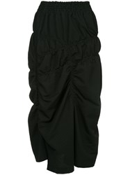 Y's Pencil Ruched Skirt Black