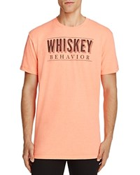 Kid Dangerous Whiskey Behavior Graphic Tee Bright Ora
