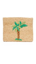 Hat Attack Embroidered Clutch Palm Tree