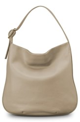 Shinola Birdy Grained Leather Hobo Bag Beige Stone