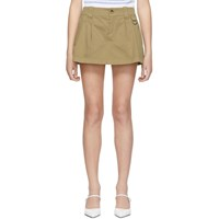 Red Valentino Khaki Pleated Shorts