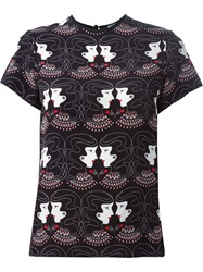 Holly Fulton Printed Silk Blouse Black