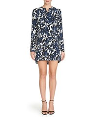 1.State Painterly Hi Lo Shift Dress