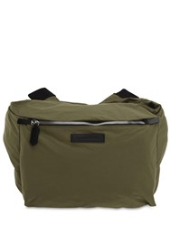 Dsquared Tech Nylon Belt Bag W Sleeve Strap Army Green